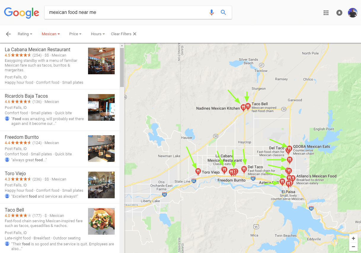 mexican food near me on google maps
