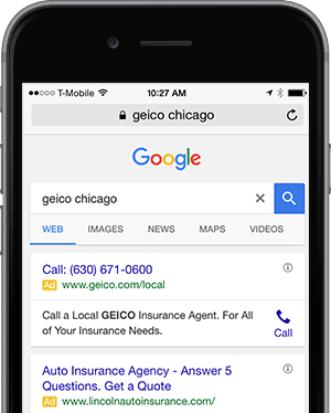 geico call only ads